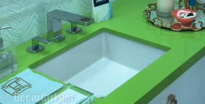 Silstone green countertop