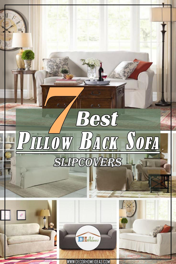 7 best pillow back sofa slipcover ideas