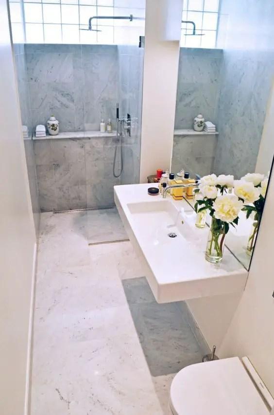 Thiết kế màu sáng phòng tắm hẹp # phòng tắm # phòng tắm # phòng tắm # phòng tắm #decorhomeideas