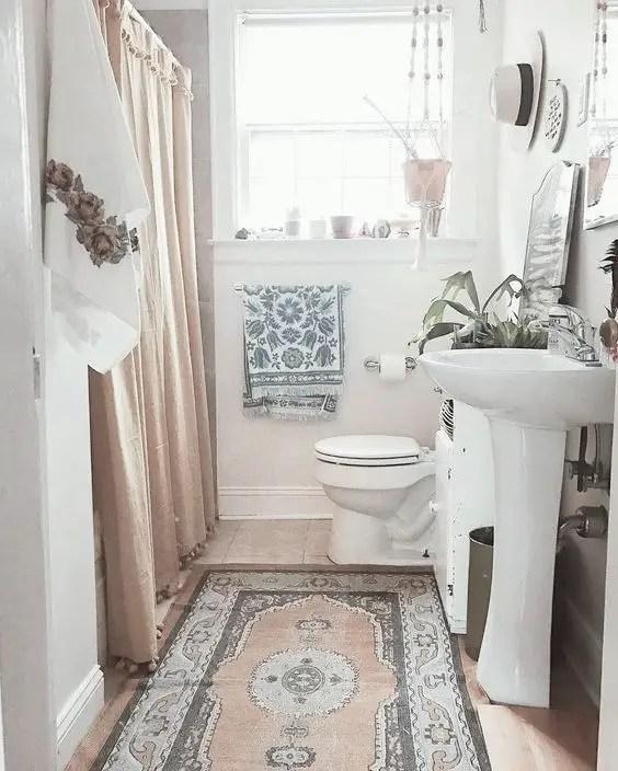 Thiết kế phòng tắm hẹp với thảm # phòng tắm # phòng tắm # phòng tắm #decorhomeideas