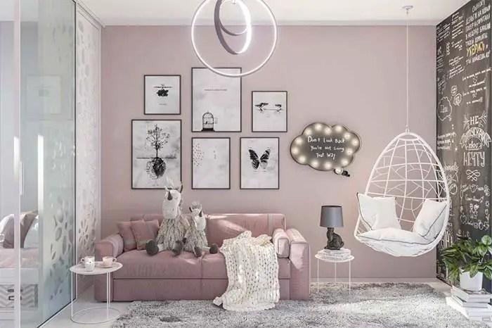 Phòng khách có màu Mauve # màu sơn # màu trắng # màu sơn # màu sơn # màu nền