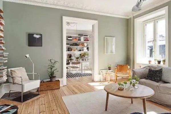 Phòng khách màu xanh lá cây Sage # màu sơn # màu xanh lá cây # màu sơn # màu sơn # màu nền