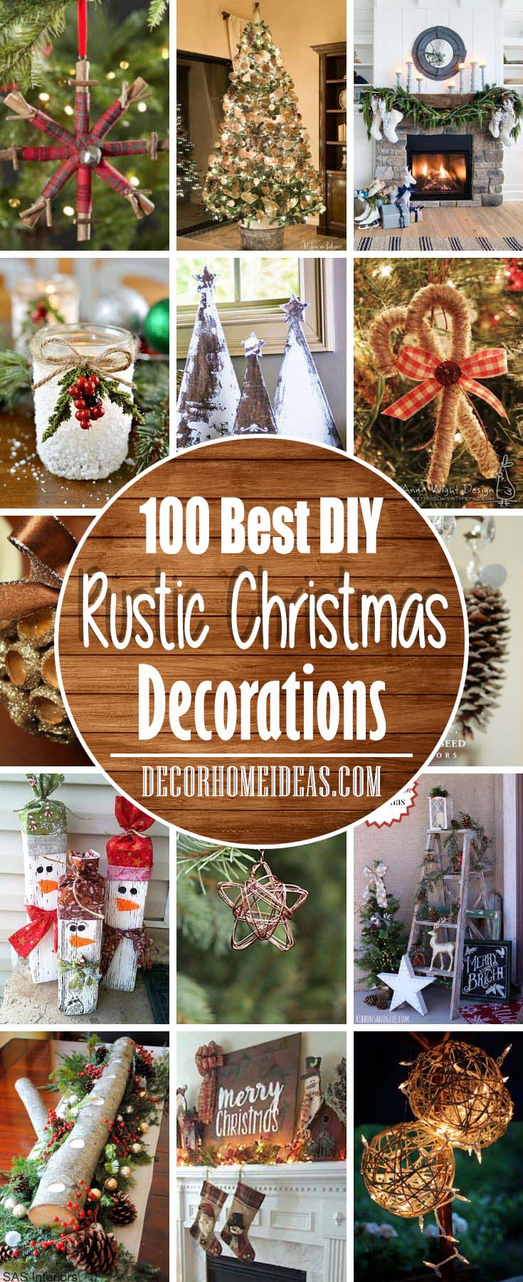 100 Rustic Christmas Decorations For A Warm Cozy Home Decor Home Ideas