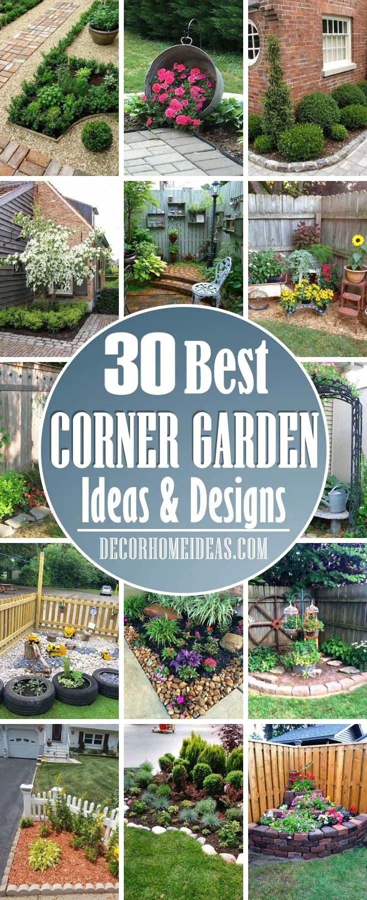 28 Beautiful Corner Garden Ideas And Designs Decor Home Ideas