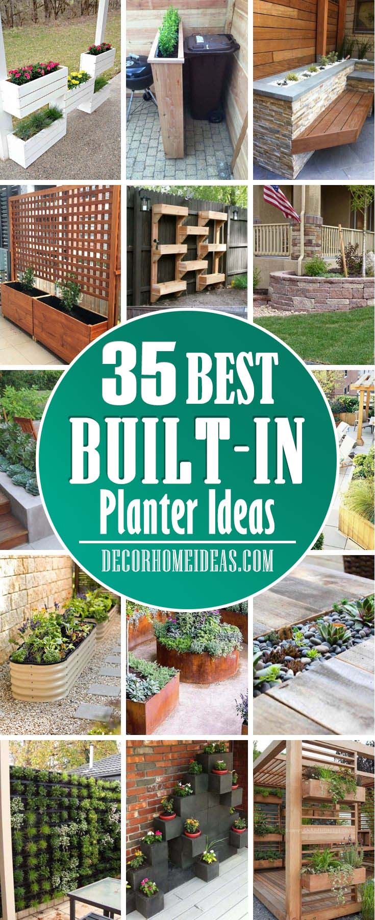 35 beautiful built in planter ideas to