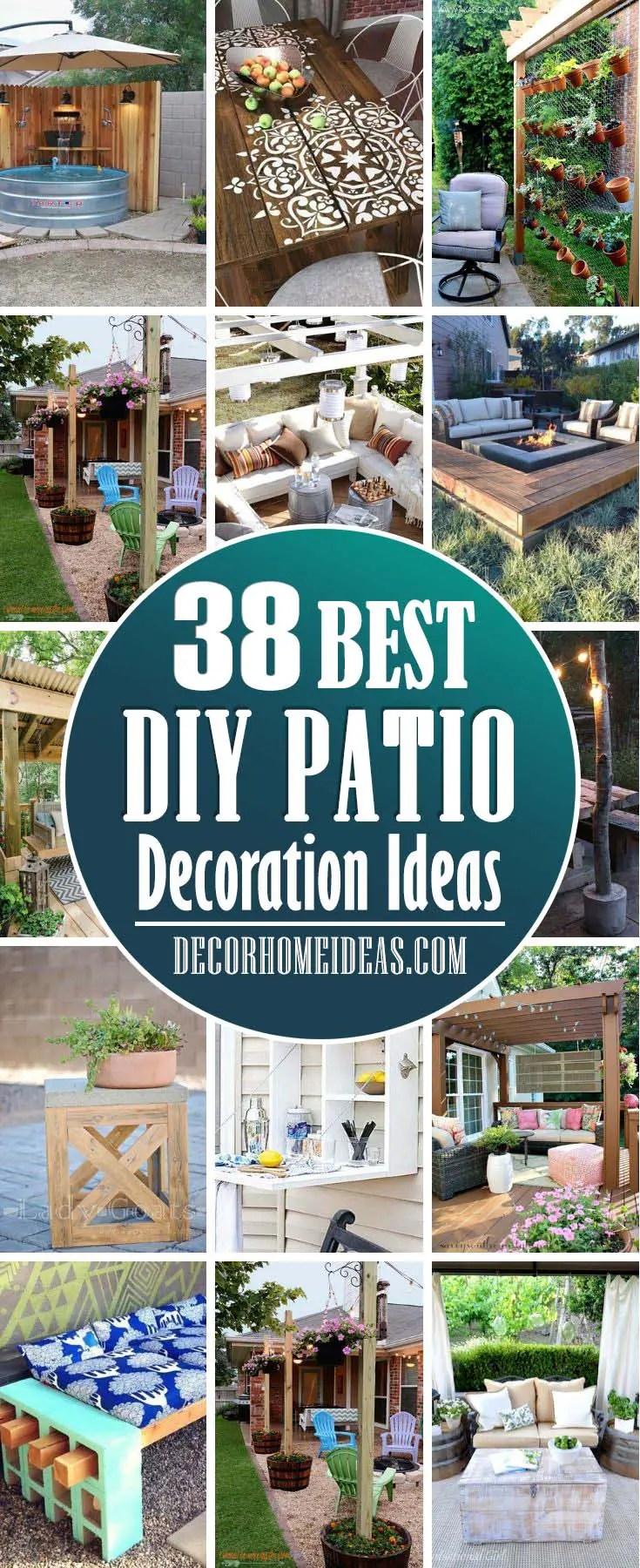 40 best diy patio decoration ideas to