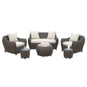Outdoor Wicker Patio 4 Piece Steel Sofa Conversation Set