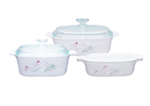 CorningWare 6pc Casserole Lillyville Set A-140-LV
