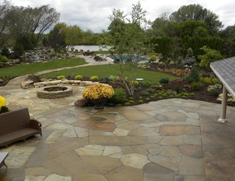 flagstone patio for a natural look