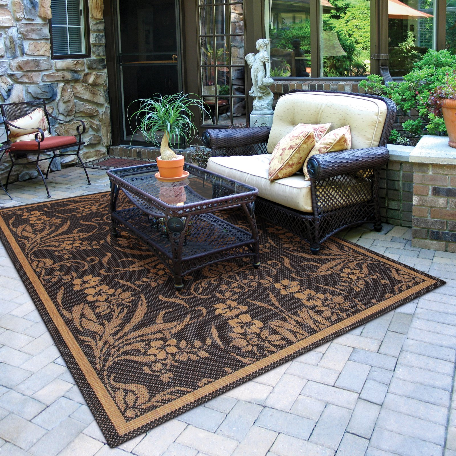 interior appeal by using patio rugs