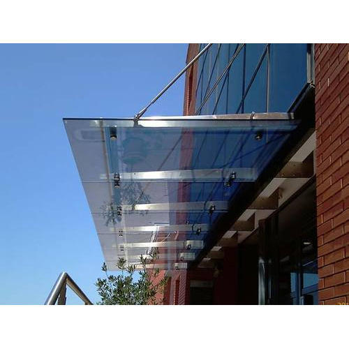Stainless Steel Glass Canopy Kuqajoa Decorifusta