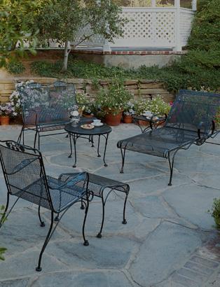 iron patio furniture for comfort