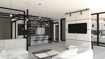 Interior design sample by Selma A  Industrial Flat