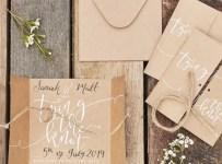 Simple Hand Lettering Invitation