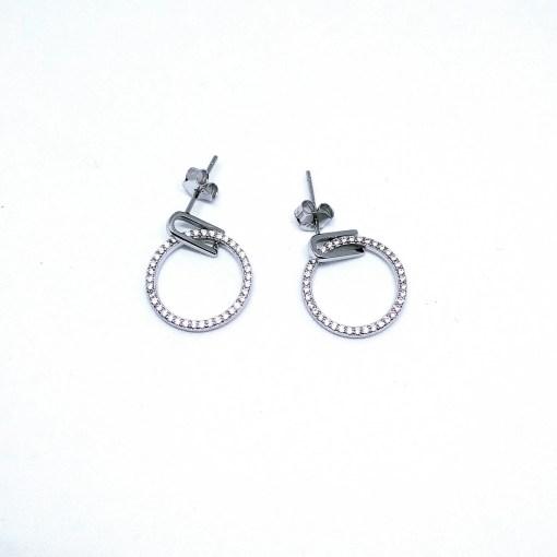 srebrne naušnice s cirkonima