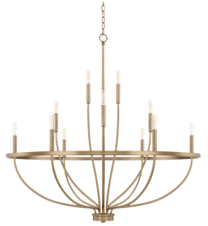 capital lighting greyson 12 light 40 wide taper candle chandelier aged brass