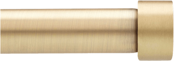 umbra cappa 120 to 180 inch adjustable window curtain rod set in brushed brass