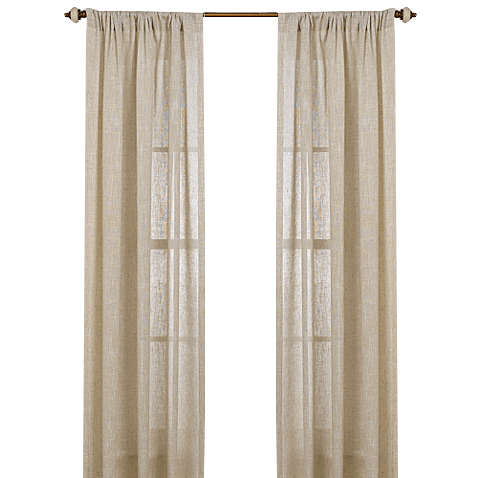 b smith barbados natural 84 inch window curtain panel