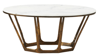 parker oval marble coffee table