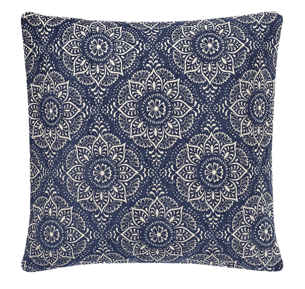 make your own pillow casbah square throw pillow cover in blue