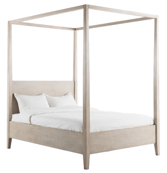 bee willow home king wood canopy bed in natural