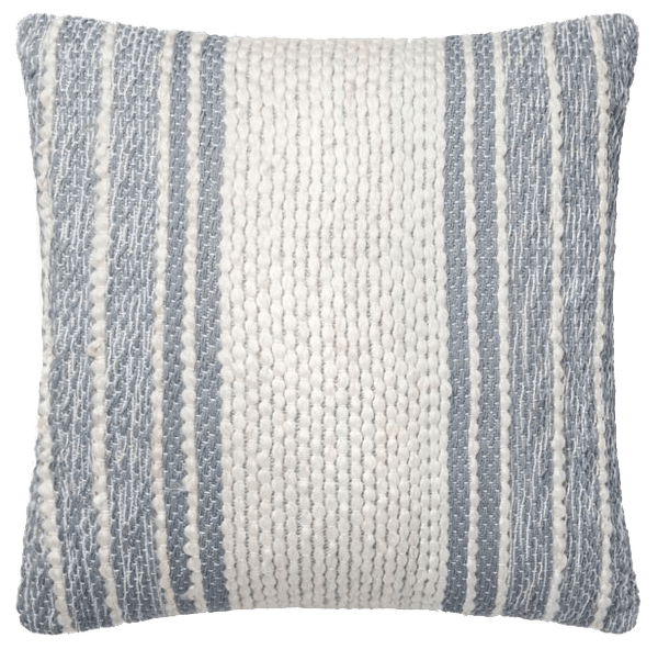 magnolia home by joanna gaines jewel square throw pillow in blue ivory