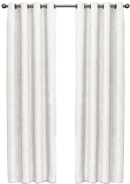 quinn 95 inch grommet top 100 blackout window curtain panel in white