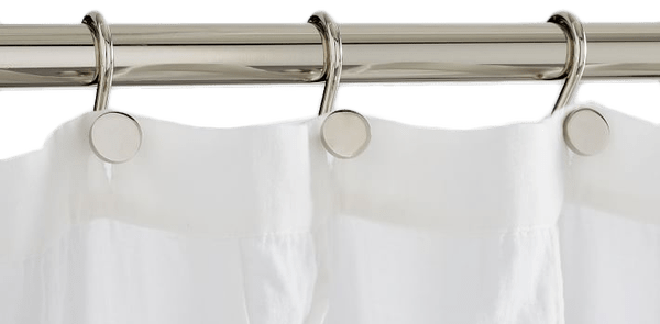 modern shower curtain rings set of 12 polished nickel