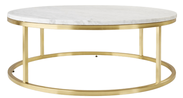 smart round marble brass coffee table