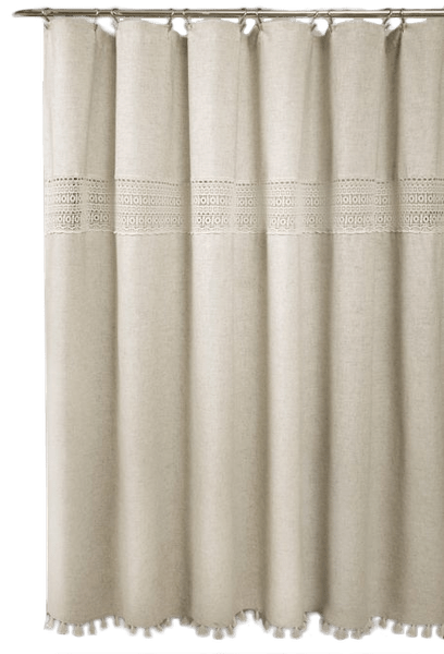 delilah lace 72 inch x 84 inch shower curtain in neutral