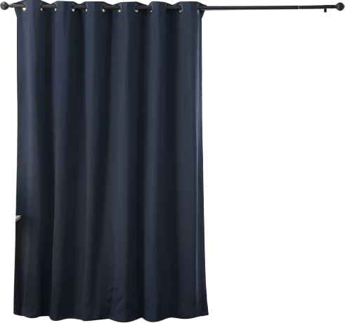scarsdale extra solid blackout thermal grommet single curtain panel 108 x100 navy