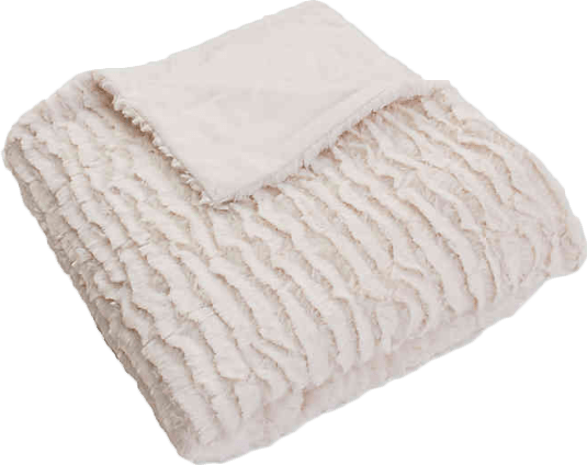 thro by marlo lorenz rachel 3 piece ruffle throw blanket and pillow set in ivory