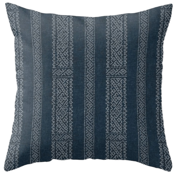 clay mclaurin miguel pillow cover in indigo 20 x20