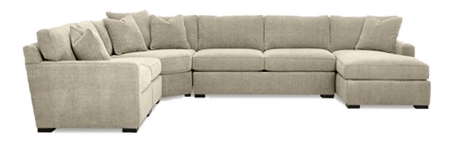 radley 5 piece fabric chaise sectional sofa