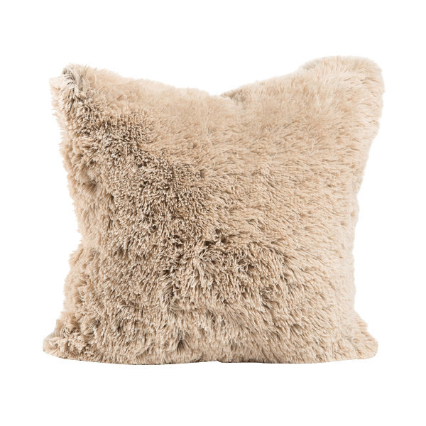 designer collections by sheri shag faux fur throw pillow with insert 20x20
