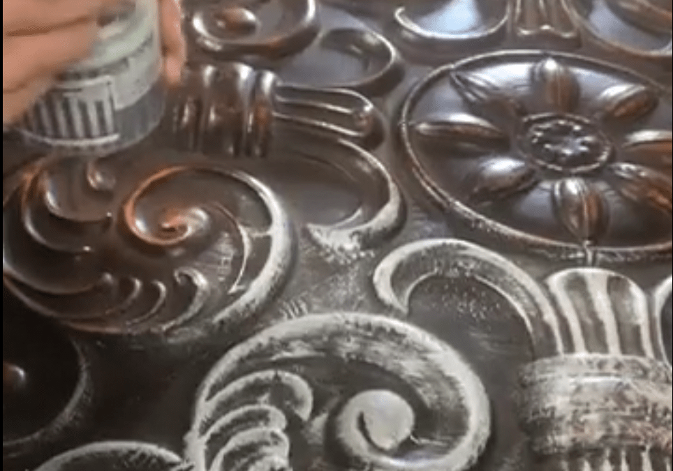 Dry Brushing a Metal Decor Piece Tutorial