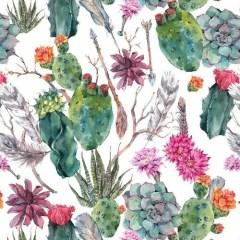 akwarela-kaktus-tapeta-na-sciane