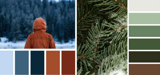 zimowa paleta barw, obrazy zimowe