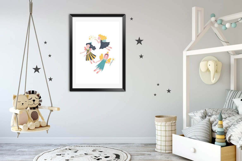 plakat do pokoju dziecka z wróżkami