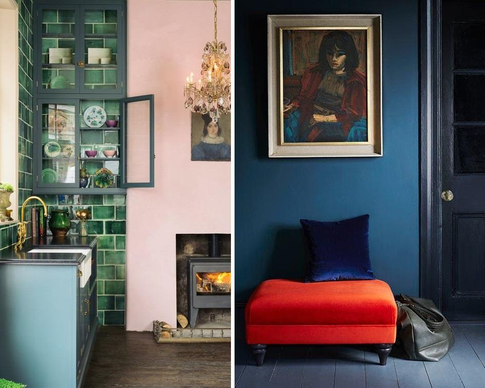 mieszkanie w kontrastowych kolorach - koło barw i kolory do mieszkania
