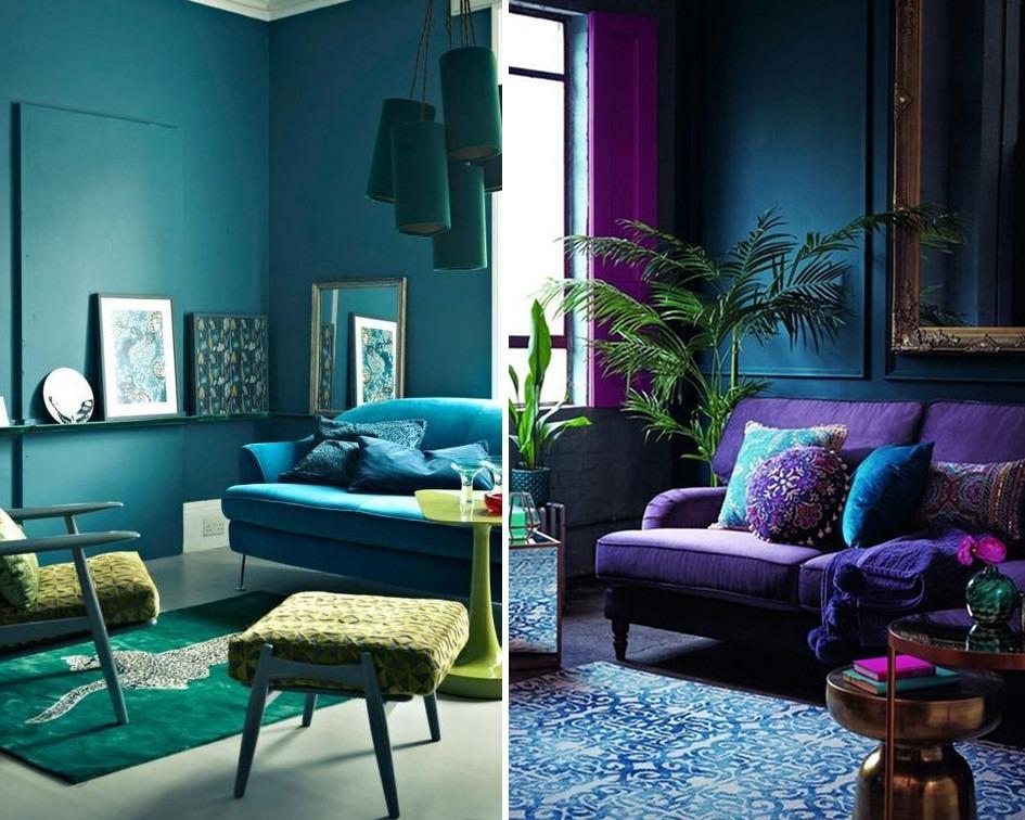 mieszkanie w sąsiadujących kolorach - koło barw i kolory do mieszkania
