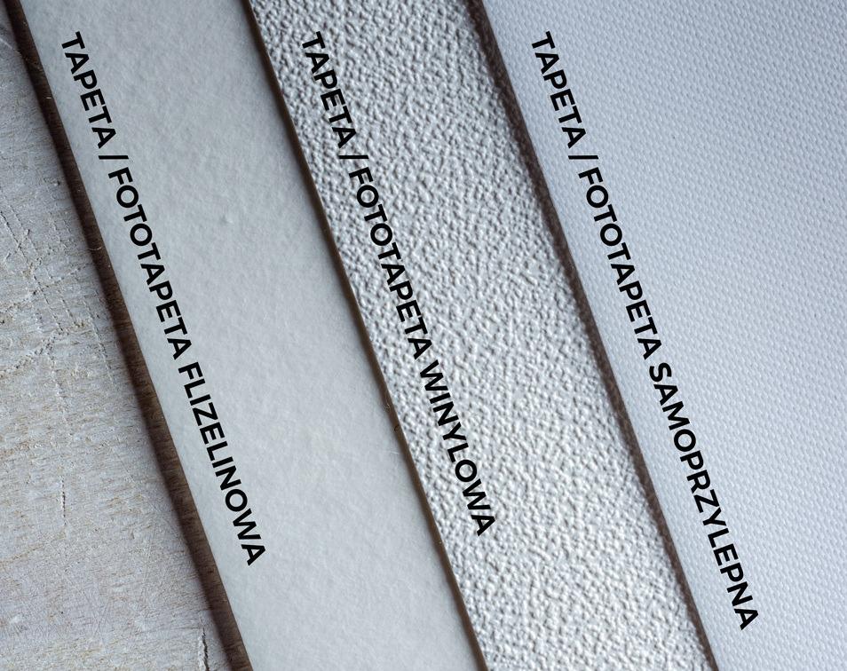 materiały tapet i fototapet