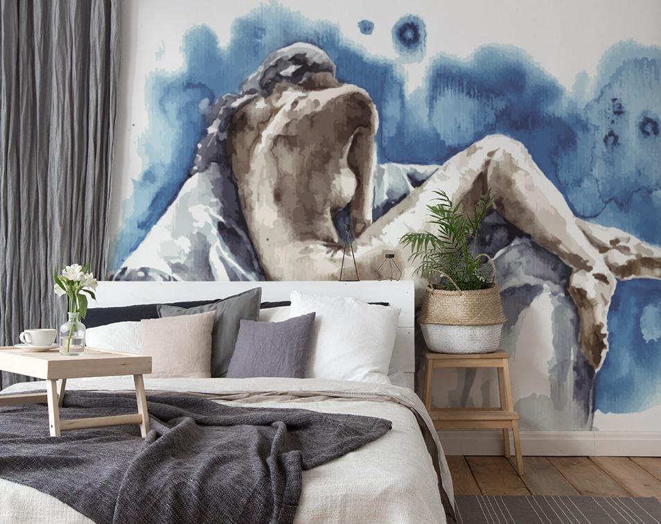 Fototapeta erotyczna na ścianie w sypialni