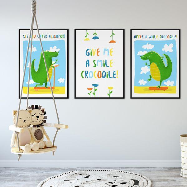 Galerie-ścienne-w-dziecięcym-pokoju-krokodyle
