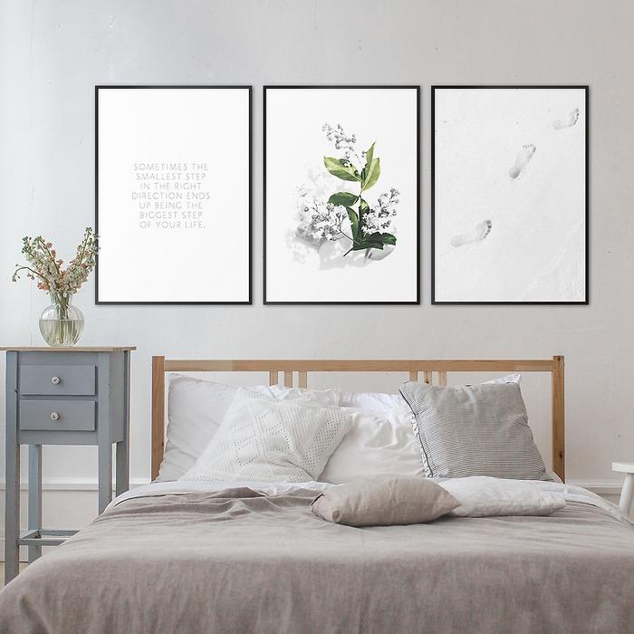 wiosenne-dekoracje-na-ściany-galeria-do-sypialni