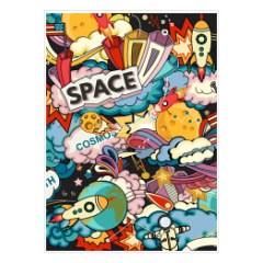 plakat-kosmos-styl-komiksowy