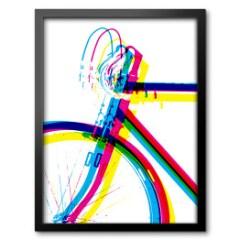 nowoczesny-obraz-w-ramie-cmyk-rower