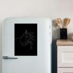 magnes-ze-zdjeciem-na-lodowke-rysunek-konia