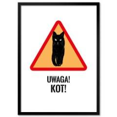 plakat-w-ramie-czarny-kot-pantone-2021