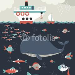 morze-podwodny-świat-plakat